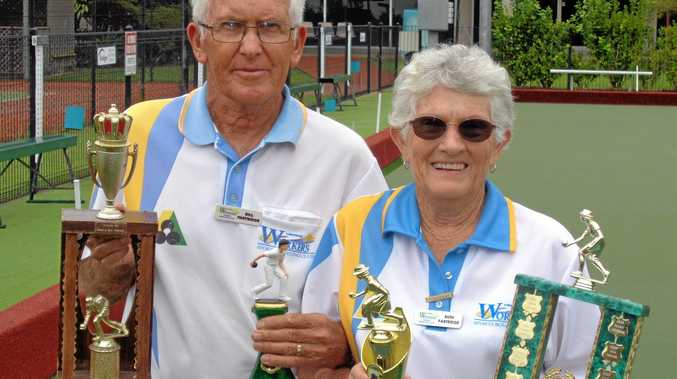 Husband and wife combination Bill and Ruth Partridge won the major club singles championships at Lismore Workers Sports Bowling Club.