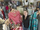 Lisa Bryant of The Clothesline Toowoomba sells brand name second-hand clothing from her Mann St shop, Tuesday, March 29, 2016.