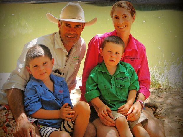 Chris, Pam and two boys Will and Sam all work on Myroodah Station.