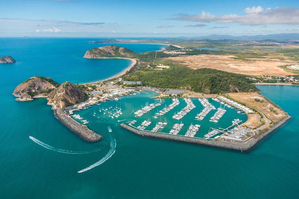 Keppel Bay Marina is this year celebrating 20 years since opening for business. An aerial shot of Rosslyn Bay Harbour in 2016. Photo Contributed / The Capricorn Coast Mirror