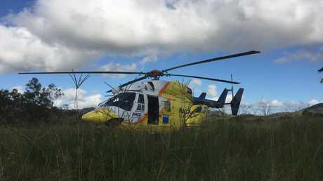 The quick thinking of an 8-year-old Bundaberg girl has led to the successful airlift of her grandfather from his North Burnett property following a quad bike accident. Photo Contributed