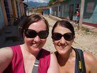 Rae Wilson (left) and Kirsty Culver in Trinidad in Cuba.