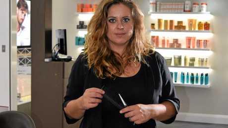 Anne-Lise Banasiak, senior stylish at the new Franck Provost Paris hair salon at Tweed Heads South.