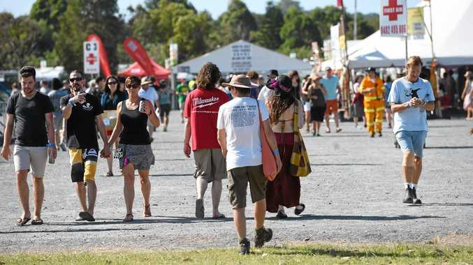 Crowds at Bluesfest 2016.  Photo Marc Stapelberg / The Northern Star