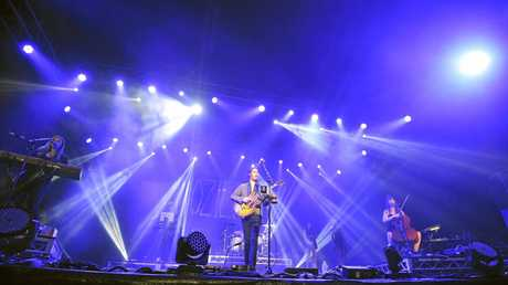 Irish singer songwriter Hozier, aka Andrew Hozier-Byrne, 25, got the star treatment by Bluesfest punters at the first day of music in this year's festival at Tyagarah.