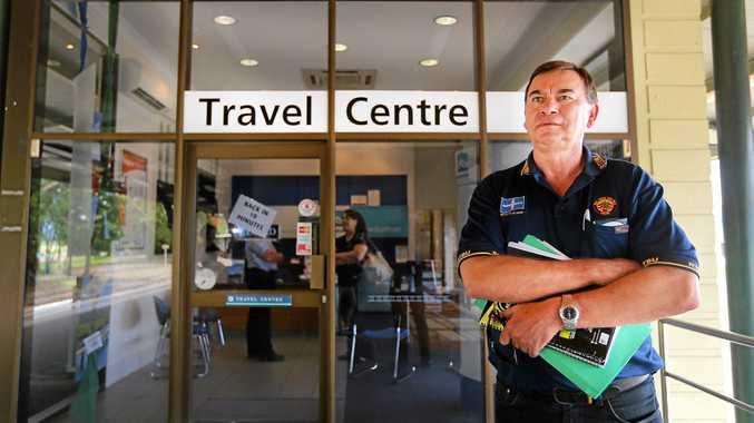 Rail, Tram and Bus Union representative Mick Cartwright at the Murwillumbah Railway Station on Wednesday.