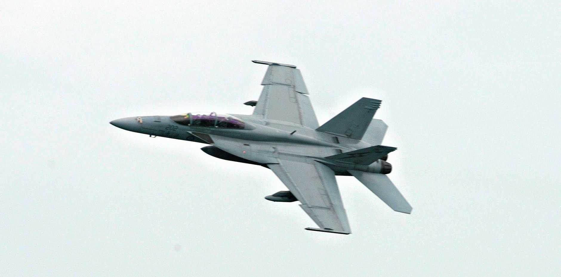 Four F/A-18F Super Hornet aircraft will take to the sky today for Anzac Day.