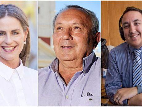 Newly elected Toowoomba Region councillors Megan O'Hara Sullivan, Joe Ramia and James O'Shea.