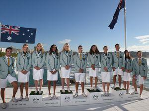 Aussies unveil 'retro candy stripe' uniforms for Rio