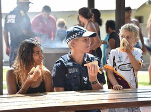Police barbecue for teenagers