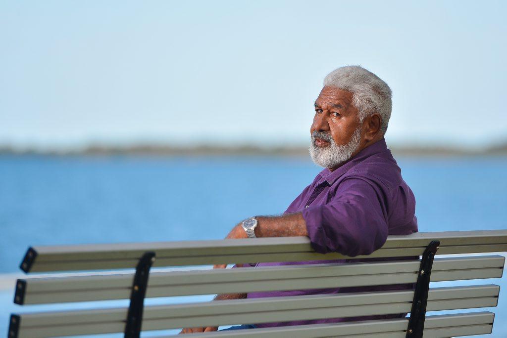 Gooreng Gooreng elder Richard Jonson at Barney Pt. Photo Mike Richards / The Observer