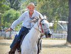 HI HO TEMPO: Vern Berry from Kilkivan rides Tempo the endurance horse.
