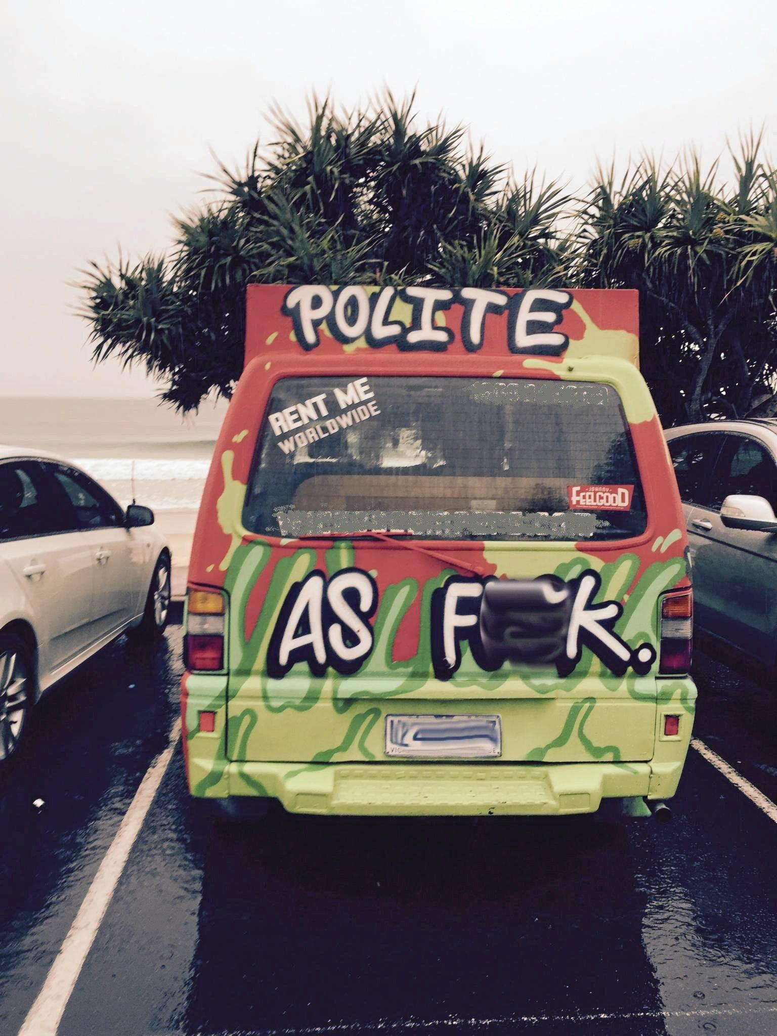 TOO FAR: Another van spotted at Main Beach car park
