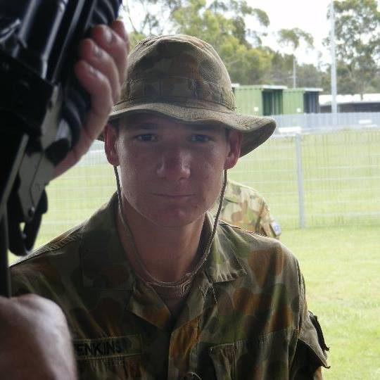 Army Private Shaun Jenkins.