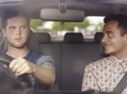 New Zealand's Transport Agency has produced an ad urging drivers to think of their passengers and drive phone free.