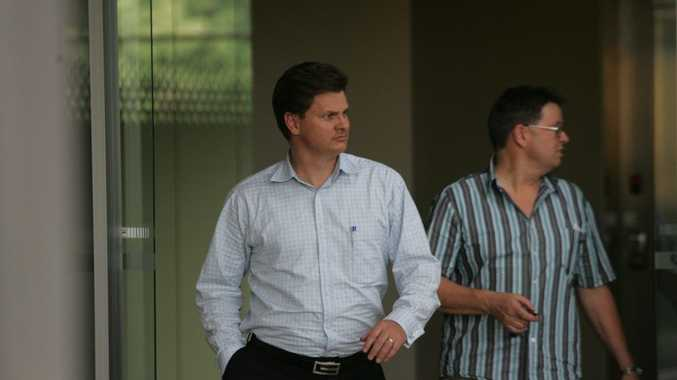 Former Kleenmaid directors Brad (left) and Andrew Young leave their former Wises Rd head office in 2009. Photo: Brett Wortman