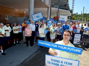 WATCH: Workers don't buy hospital parking blame game