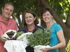 Max Reynolds, Wendy Allen and Helen Reynolds (right) of Greenleaf Bag show how the hemp product keeps produce fresh and healthy, Thursday, March 31, 2016.