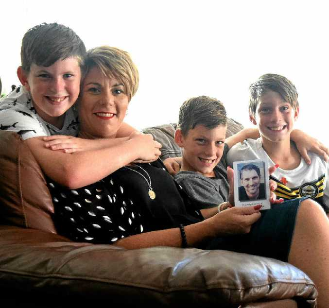 AN HONOUR: Suzanne Gakowski and her sons, Krystopher, 10, and twins Matthew and Lukas, 9 are proud to be patrons of this year's Relay for Life.