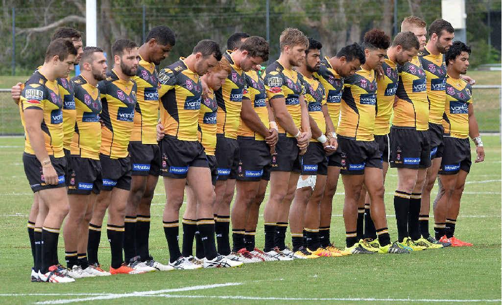 BAND OF BROTHERS: Sunshine Coast will play for fallen team mate James Ackerman at Sunshine Coast Stadium tonight at 6pm.