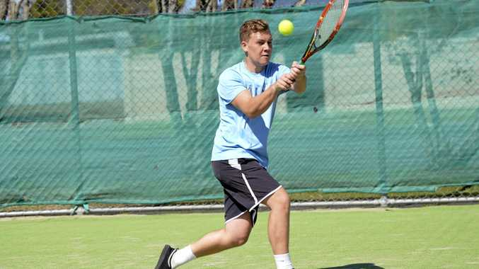 COURTING SUCCESS: Jaykob Rowe, one of the home-town hopes in the Casino Open tennis tournament starting today.