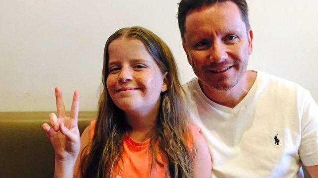 Jamahl Waddington and daughter Gabby