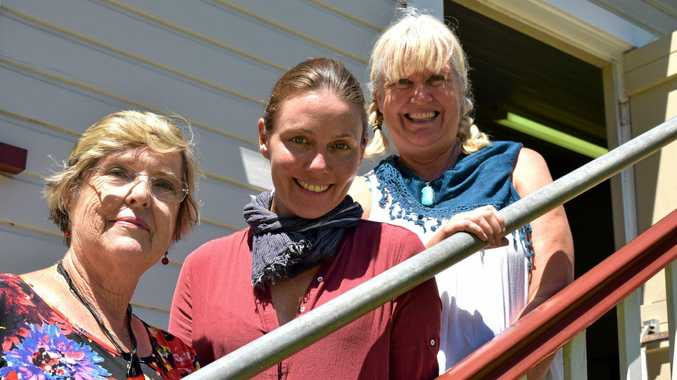 H.V. Collective co-founder Sophie Hexter (middle) will work with Josephine Saunders (left) and Debbie Clements (right) to create an artistic work for Meerschaum Vale Hall.