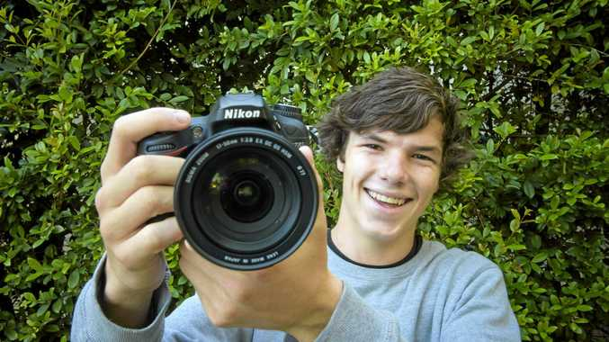 FILM MAKER: Max Hoffman, 17 of Maclean, has been commissioned to create videos for the plunge festival.