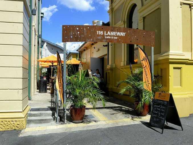 116 Laneway Cafe & Bar was vandalised on Friday night.