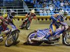 Dalton Nilsen and Jason Crump, 500cc Solos. Photo Allan Reinikka / The Morning Bulletin