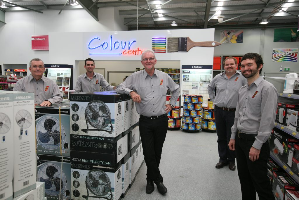 The Porter family at the new Porters store in the Northern Beaches: Gavan Porter Snr, Scott Porter, Paul Porter, Greg Porter and Gavan Porter Jnr. Photo Lee Constable / Daily Mercury
