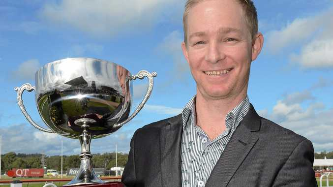 WORTHWHILE TRIP: Will Hulbert on Ipswich Cup day last year. Hulbert led in a winner at the Lismore TAB meeting yesterday.