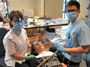 Buddhist dentists' en-whitening Easter gift