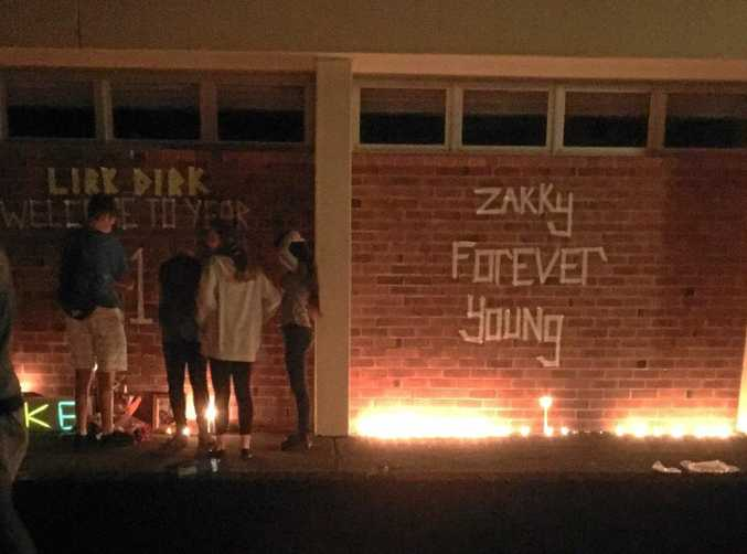 Tributes flow for Luke Smith and Zac Sweetman by classmates at Tenterfield High School.