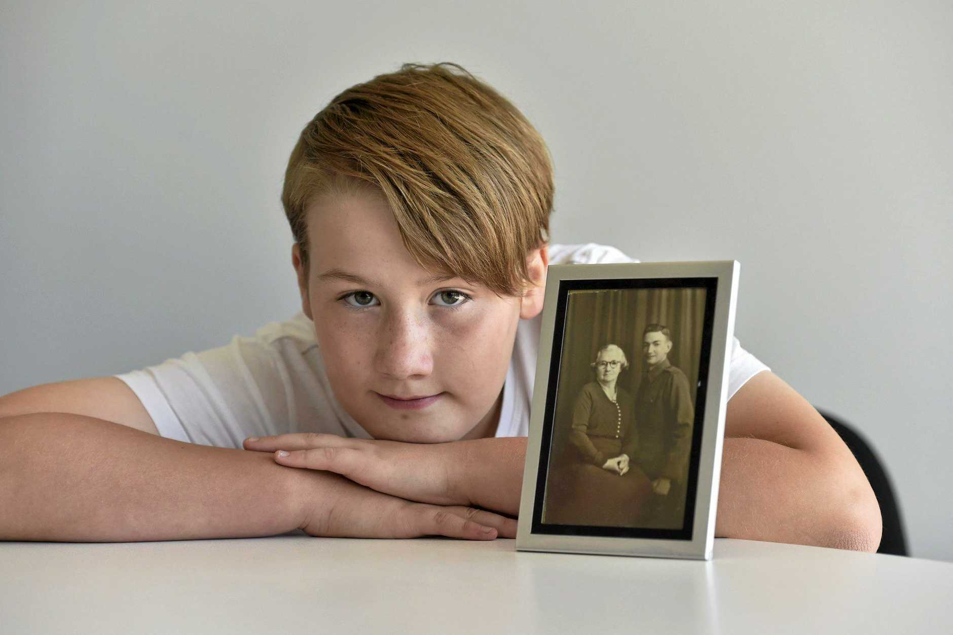 TRIP OF A LIFETIME: 11-year-old Torrhys Jordyn Helmstedt will travel to France this July for World War One commemorations.