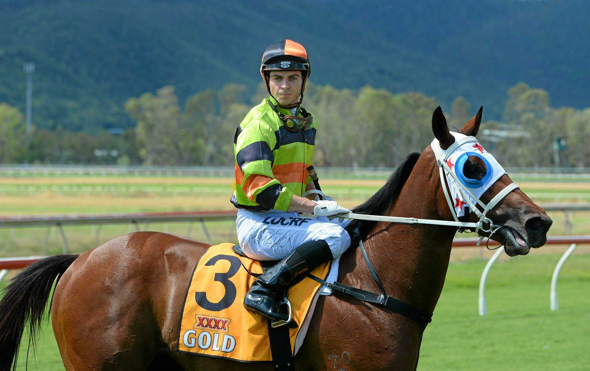 Brisbane jockey Ric McMahon will ride Tumbler in the $15,000 Kevin Nipperess Handicap (1000m) at Ballina today.