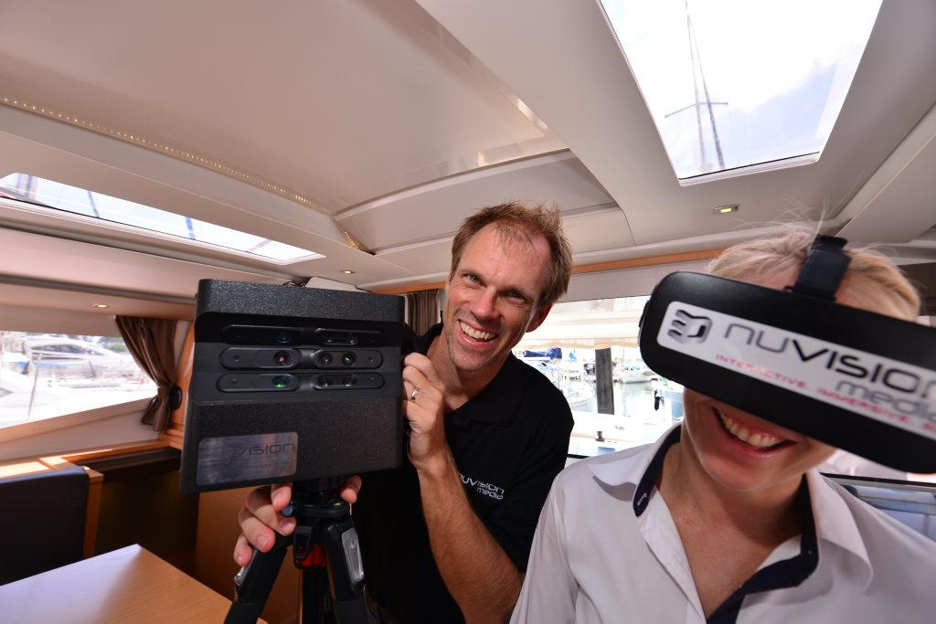 Dylan Schenkeveld of Nuvsion with the latest interactive, immersive, 3D technology. Photo: John McCutcheon / Sunshine Coast Daily