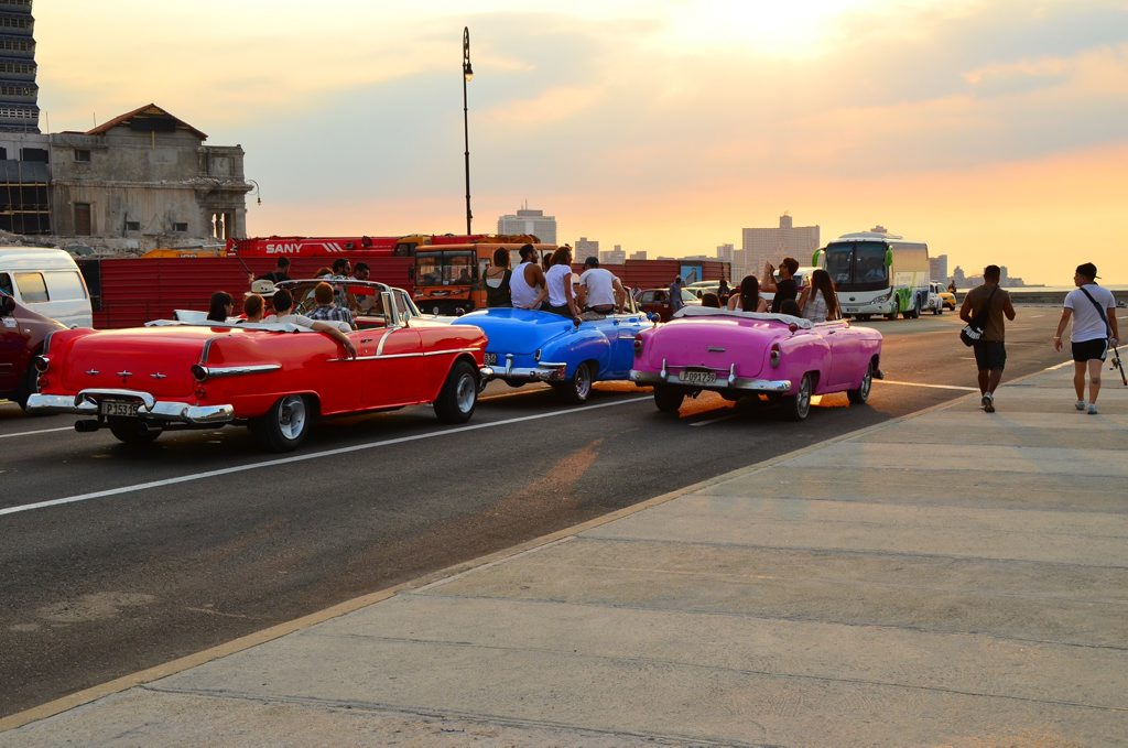 Cuba is as frustrating as it is charming. This photo is in Havana at sunset. Photo: Rae Wilson