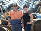 FAMILY HISTORY: Rockhampton Metal Recyclers owners Matthew and Larnie Moller have reopened their business on the same land that Matthew's grandfather started a scrap metal yard decades ago.