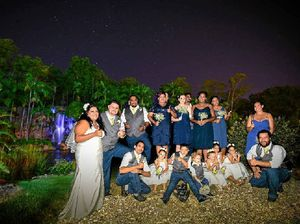 Suneilia and Luke share the big day with family and friends
