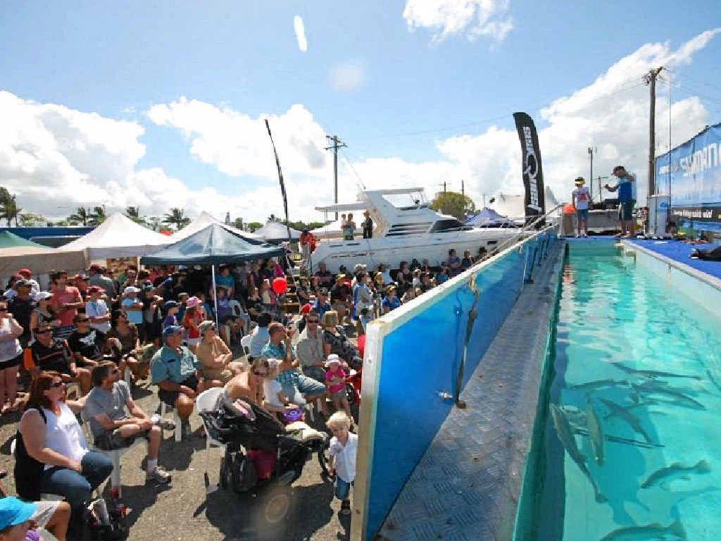 FEELING FISHY: The crowd at last year's Shimano Fishing Show.