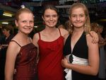 Young dancers Kelly-Lea Wormington, Emma Linde and Ashley Eilers at the Marburg Show Ball, 2016.Photo Ali Kuchel / Gatton Star
