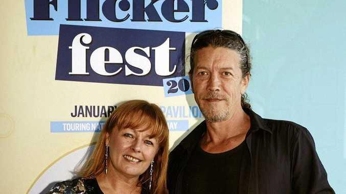 Flickerfest director Bronwyn Kidd and tour manager Shane Rennie.