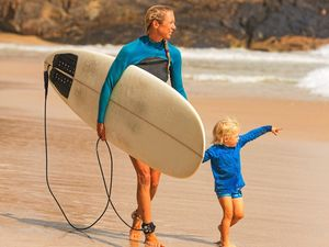 In Byron, mums can surf while the kids play