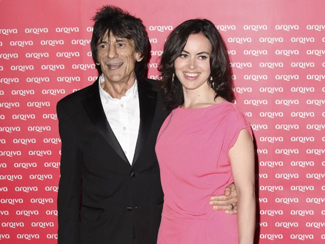 Ronnie Wood and wife Sally