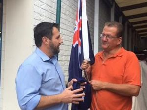 Flag stolen from Maleny Newsagency