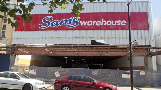 SO LONG SAM: The Sam's Warehouse building in Ruthven St.
