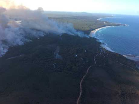 The 500 hectare hazard reduction burn at Diggers Camp on Tuesday, 5th of April, 2016. Photo: NSW National Parks and Wildlife Service