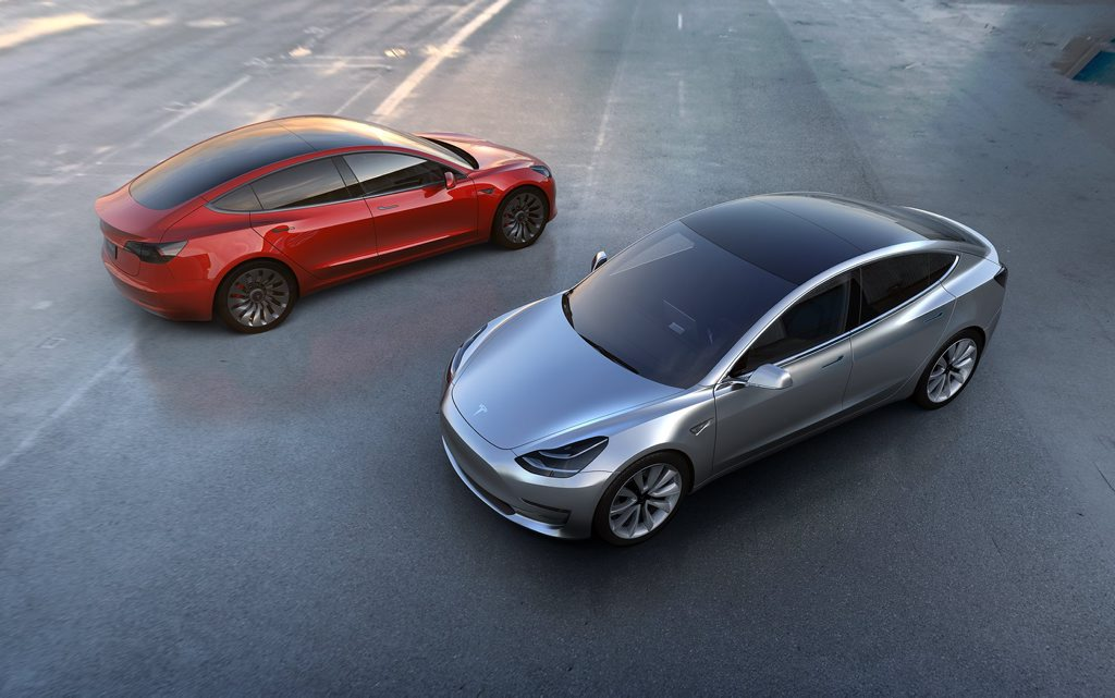 THE FUTURE: Tesla's Model 3 has an electric range of 345km, will hit 100kmh in less than six seconds, is Supercharging (rapid charge) capable, has the semi-autonomous Autopilot system as standard and offers seating for five.