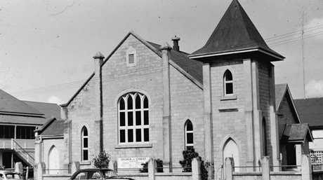 A photo of what the Church Pharmacy looked like when it was the Church of Christ back in 1960. This photo is part of the Bundaberg Library's collection.